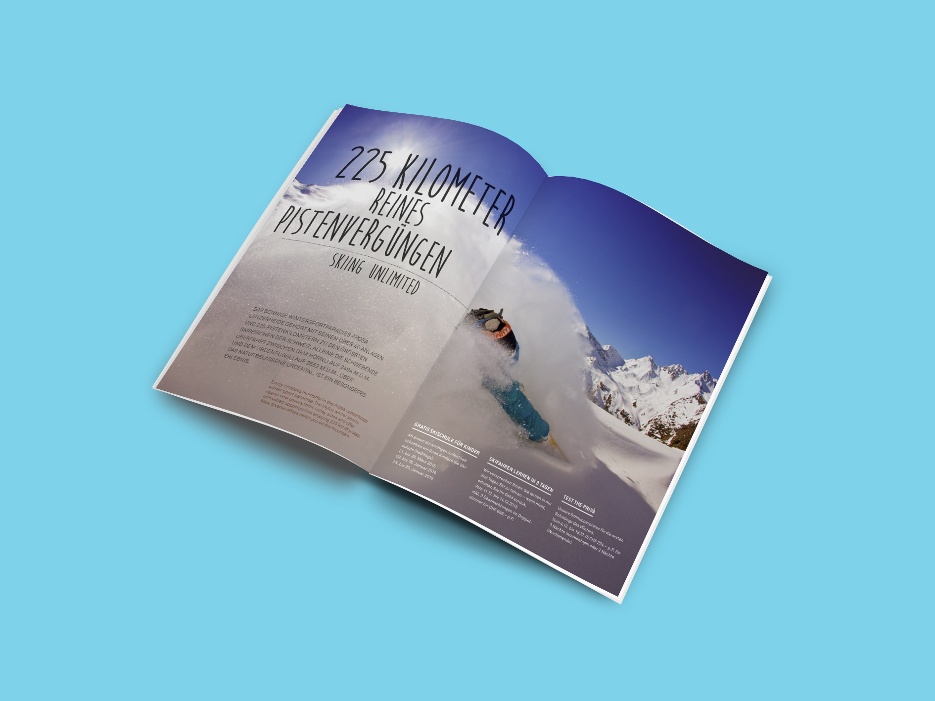 PRIVA Alpine Lodge, Lenzerheide, Editorial Design, Grafik Bern, Grafiker Bern